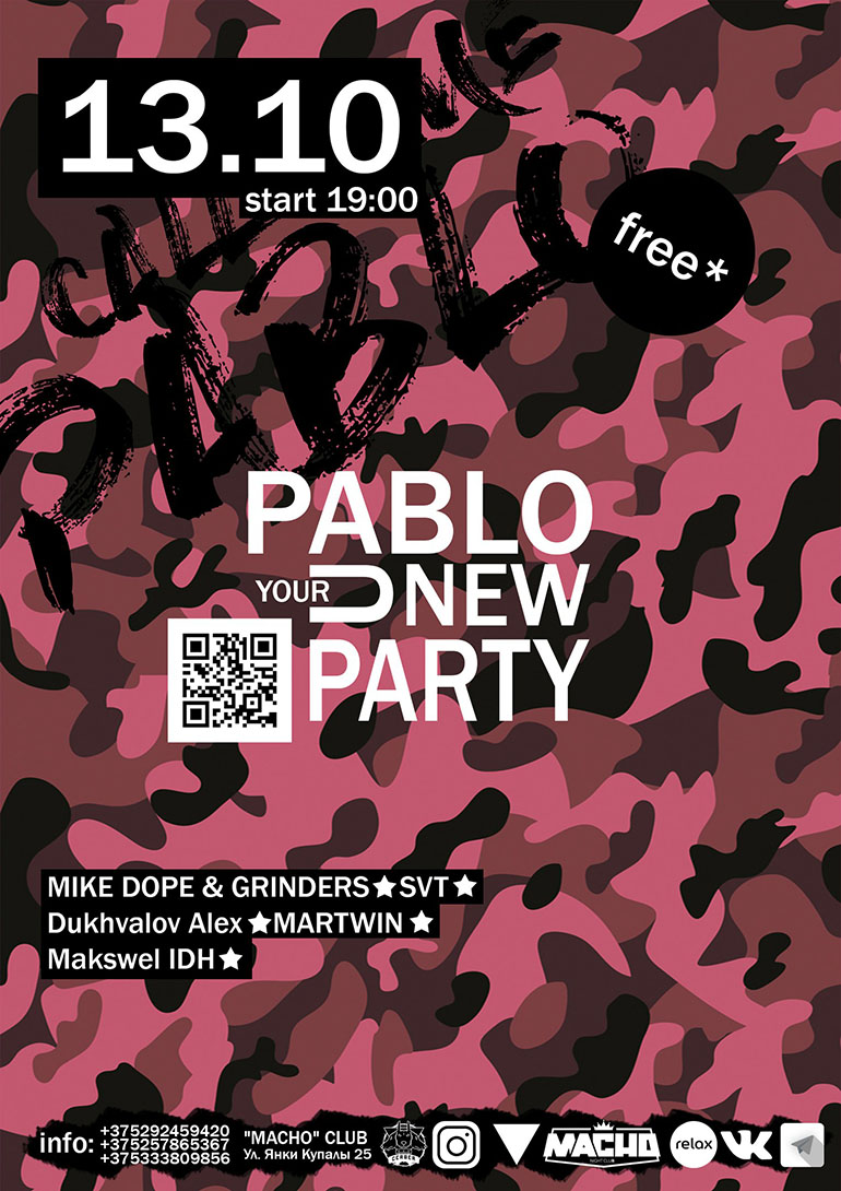 PABLO your new party